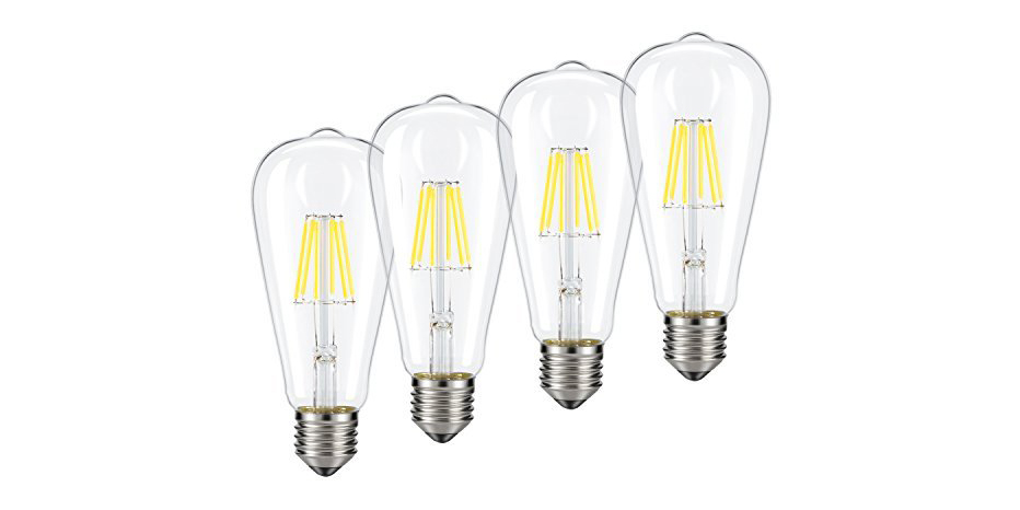 green deals  4-pack dimmable edison-style led light bulbs  18  more