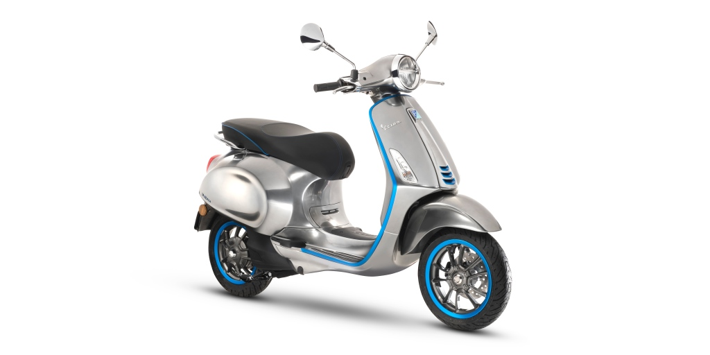 The first electric Vespa, the Elettrica, to finally enter