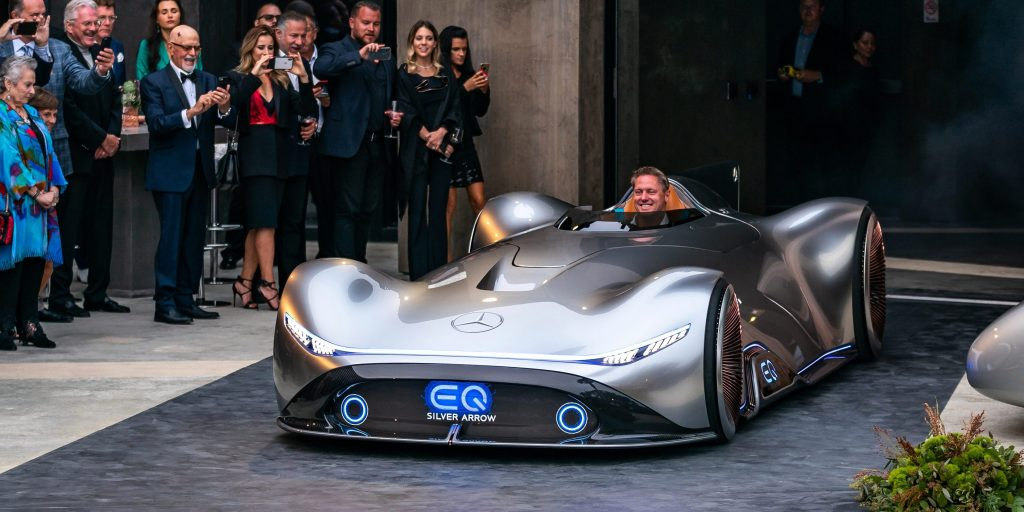 Mercedes-Benz unveils new all-electric race car prototype ...