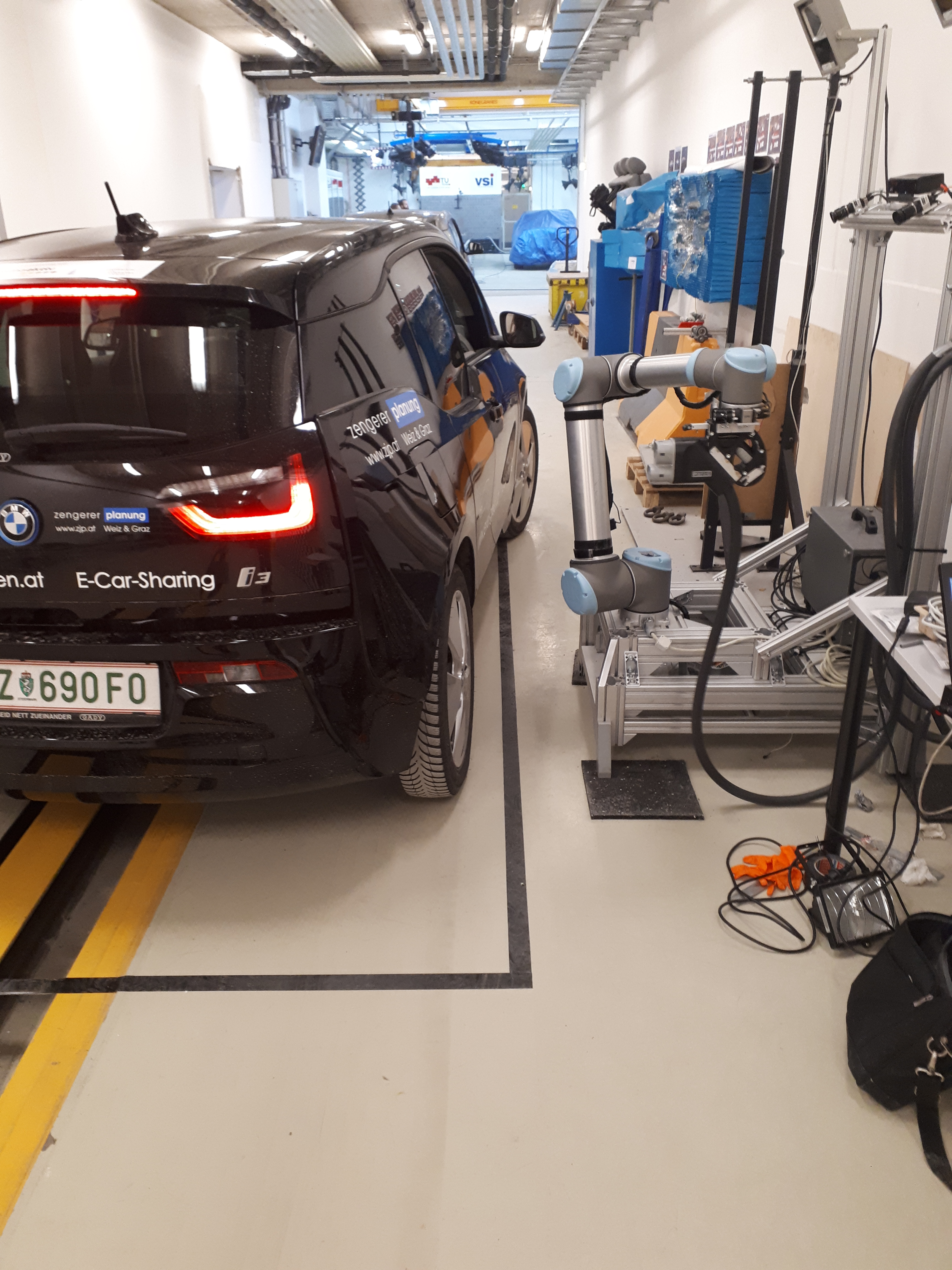 With The Robotics But Programming And Integration Of Sensor Technology For Exact Position Type Recognition Vehicle Charging