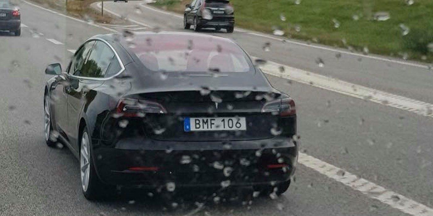 Resultado de imagem para Tesla Model 3 Sweden roads