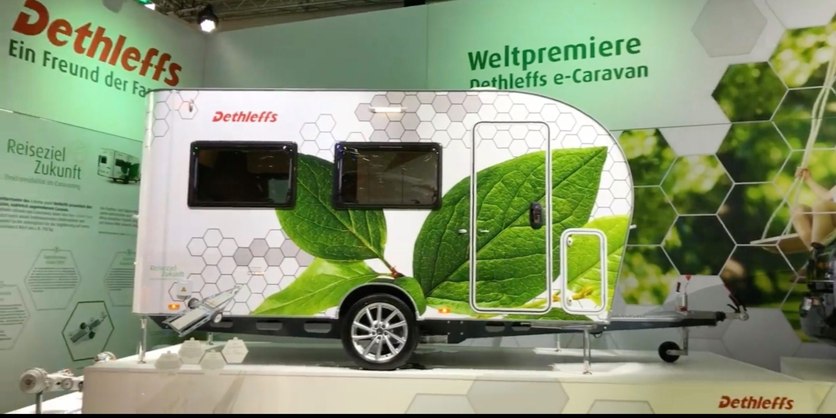 This new camper for electric cars has its own battery pack, electric motors, and solar panels