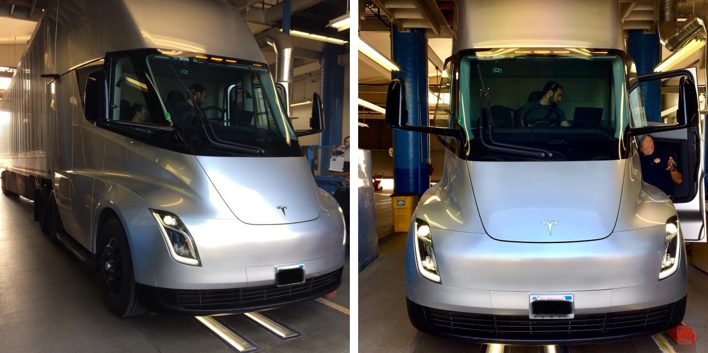 Tesla Semi Prototype Spotted At Truck Inspection 8211 It Was 8216 Cleared 8217
