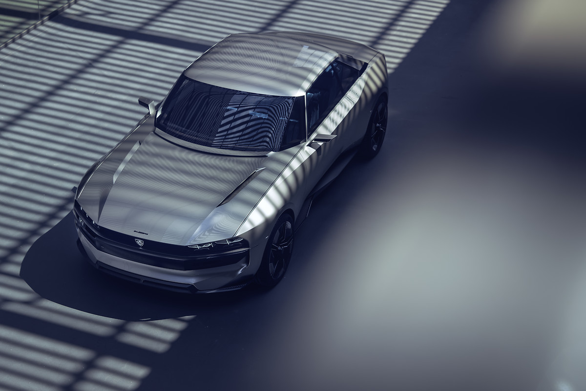 Peugeot Unveils All Electric Coupe Concept With Some Muscle Car Dna