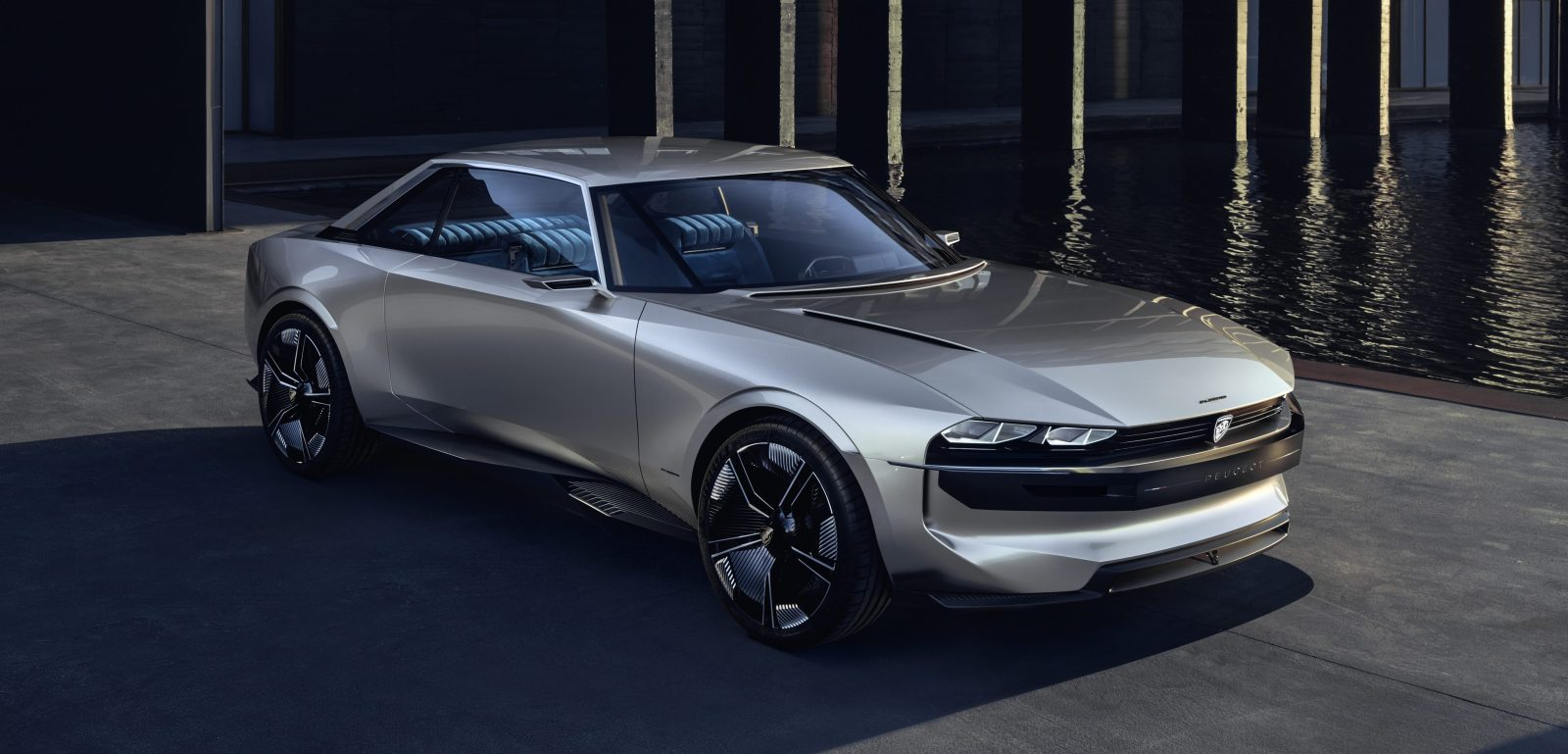 peugeot unveils all electric coupe concept with some. Black Bedroom Furniture Sets. Home Design Ideas