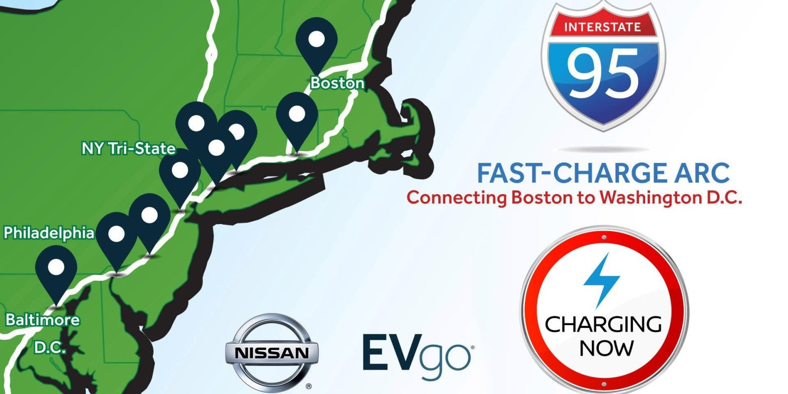 Nissan And Evgo Are Launching New East Coast Fast Charging Route