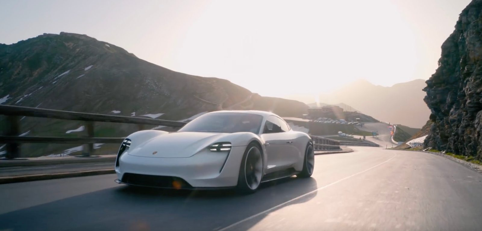 Watch The Porsche Taycan Electric Concept On Mountain Roads In New Dji Mavic 2 Drone Footage