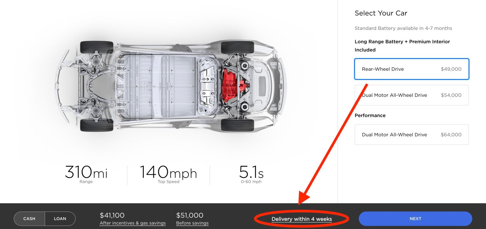 Tesla Accelerates Model 3 Delivery Timeline For Rear Wheel Drive Version