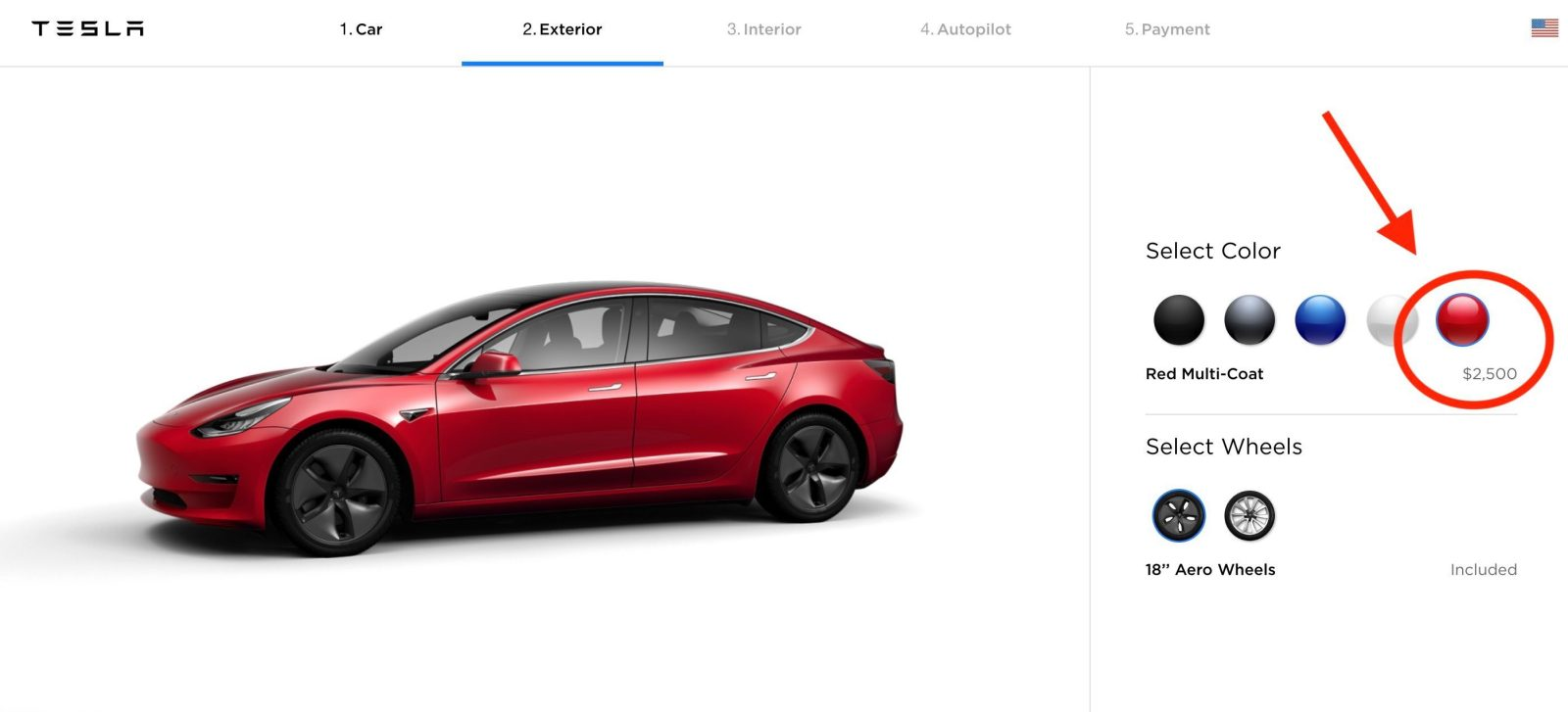 Tesla increases price of Red Multi-Coat paint for all cars as it