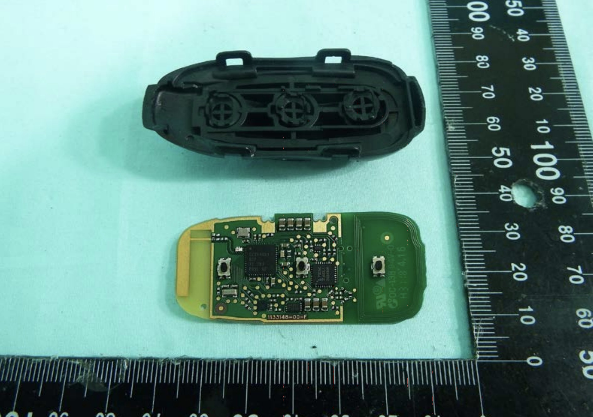 Tesla Model 3 Is Finally Getting A Key Fob First Images Electrek Electronic Circuit As You Can See It Looks Almost Exactly Like The S And X Fobs