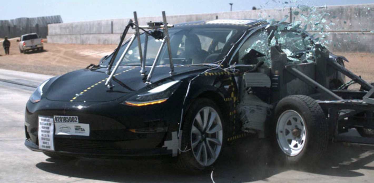 Tesla Model 3 achieves lowest probability of injury of any vehicle ever tested by NHTSA
