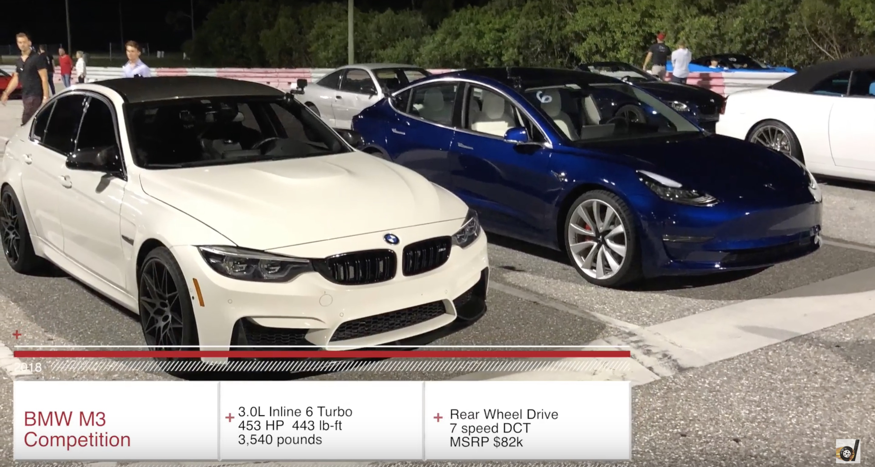 Here Are The Specs That Dragtimes Listed For Model 3 Performance And Bmw M3 Compeion