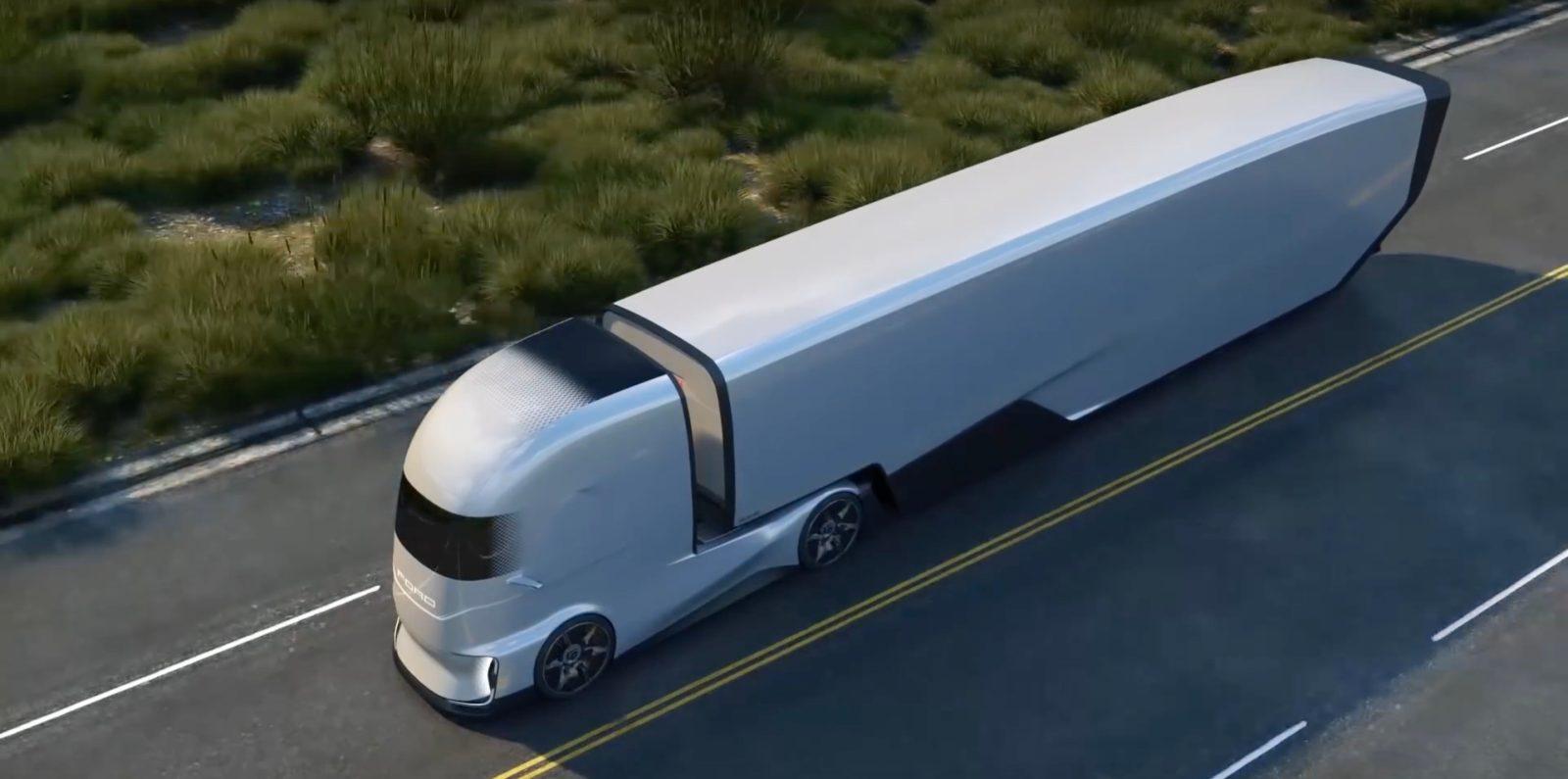 Ford Unveils F Vision Electric And Autonomous Truck Concept
