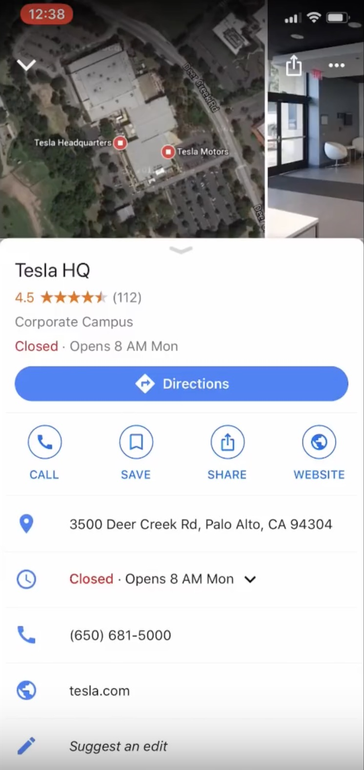 Teslas New Mobile App Update Lets You Get More Control Over Your The Tesla Switch Simply Have To Click Share After Finding A Location In And With