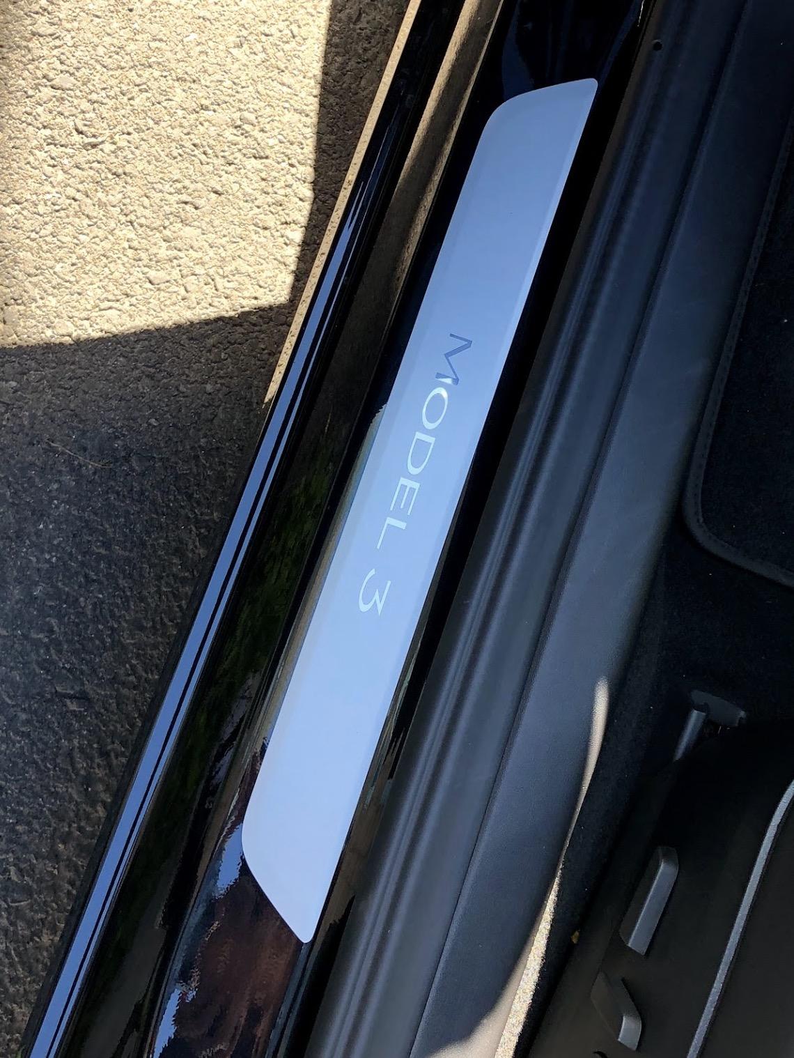 Tesla accessories model 3 doorsill protector