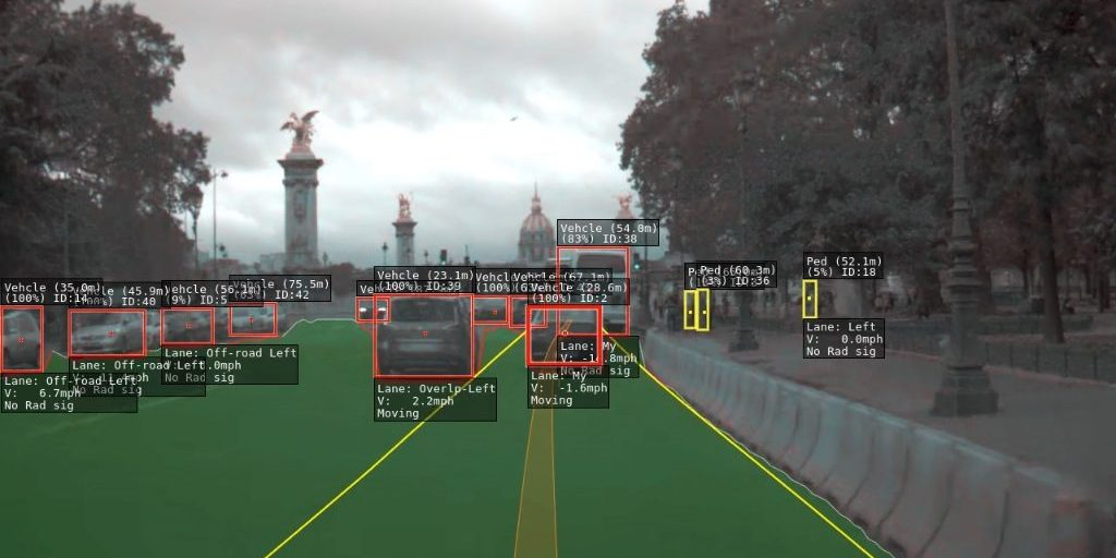 Watch a Tesla drive in Paris through the eyes of Autopilot
