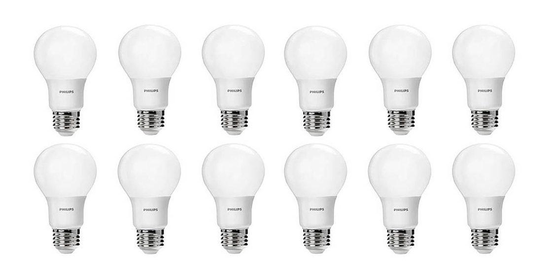 green deals 12 pack philips a19 led light bulbs 20 more electrek