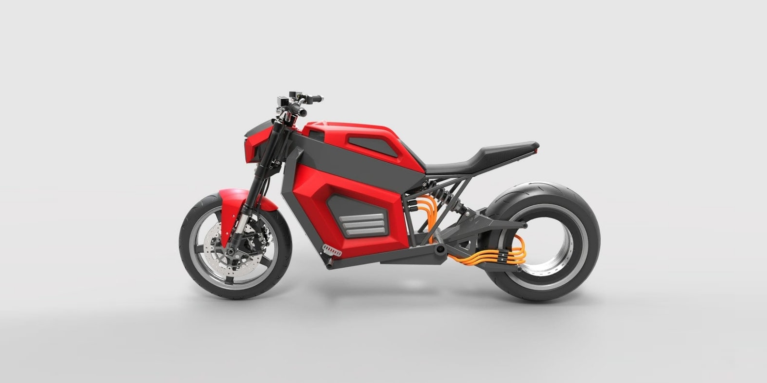 This new electric motorcycle does 100 mph and 186 miles – all without a rear hub