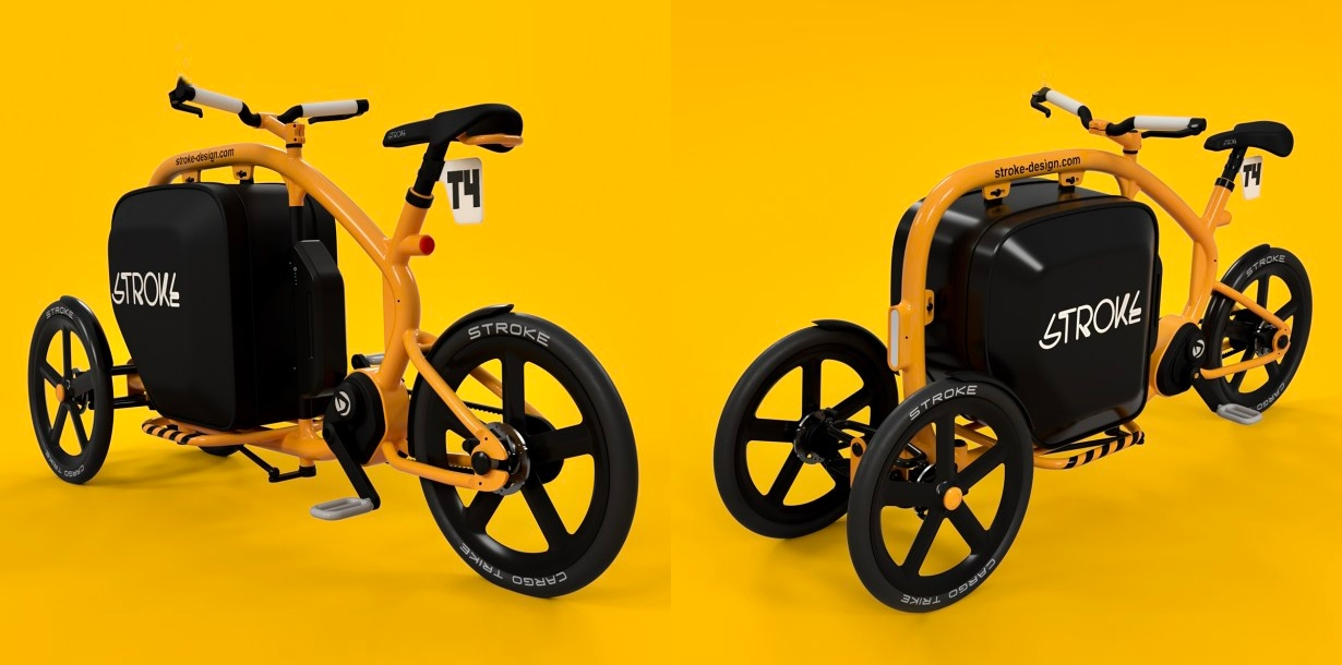 This Japanese tilting electric cargo tricycle is as cute as it is functional