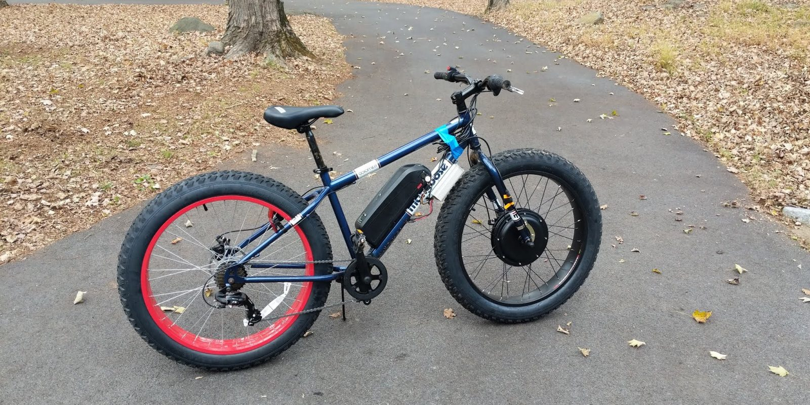 DIY ebike: 1kW Fat Tire AWD snow bike for $700 + 4 hours of work