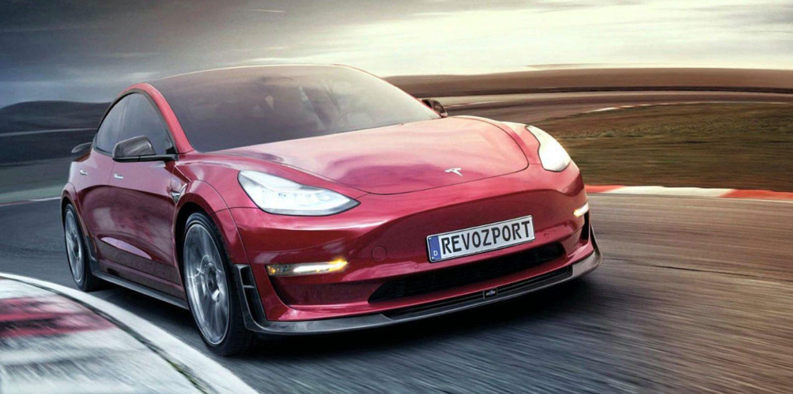 Tesla Model 3 gets agressive new look with aftermarket RevoZport