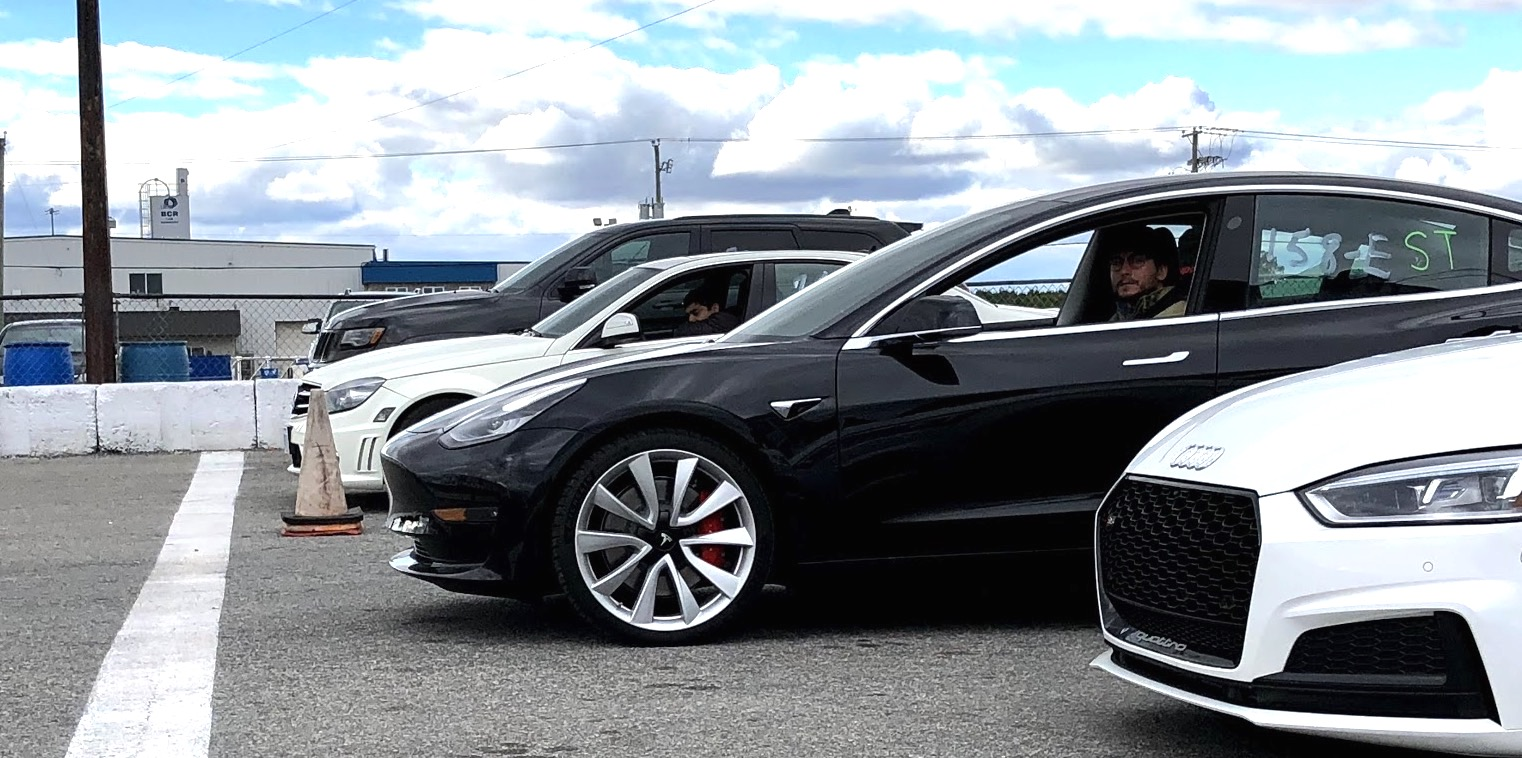 Taking A Tesla Model 3 Performance To The Dragstrip