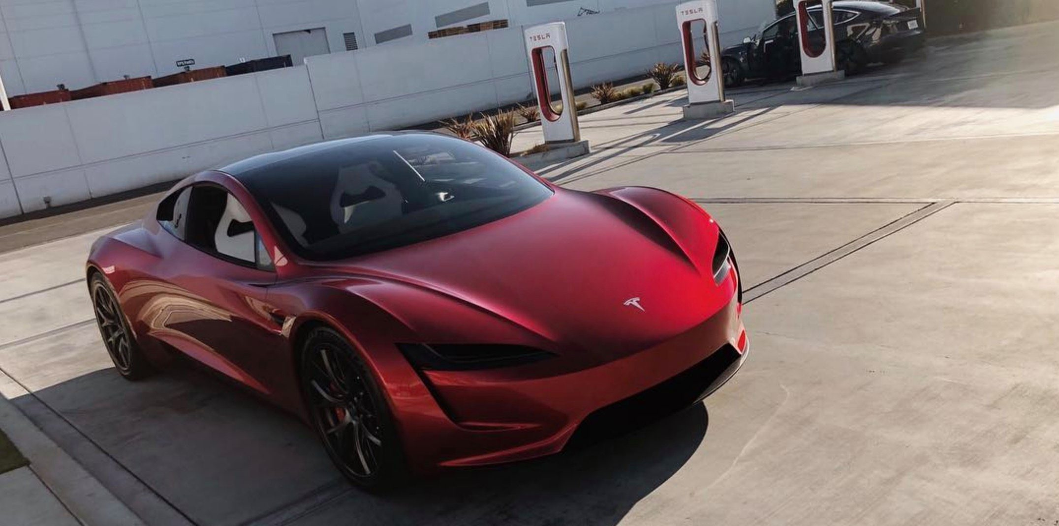 Tesla Next Gen Roadster Makes Rare Outing Some New Eye Candy