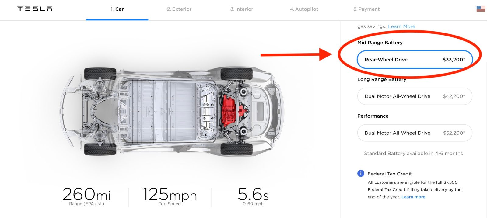 Tesla launches new Model 3 with 'mid-range' battery for