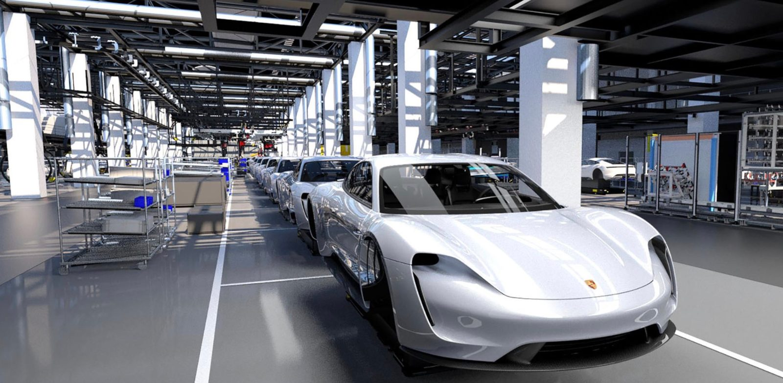Porsche Plans To Produce An Impressive 40 000 All Electric Taycan Cars Per Year Report Says