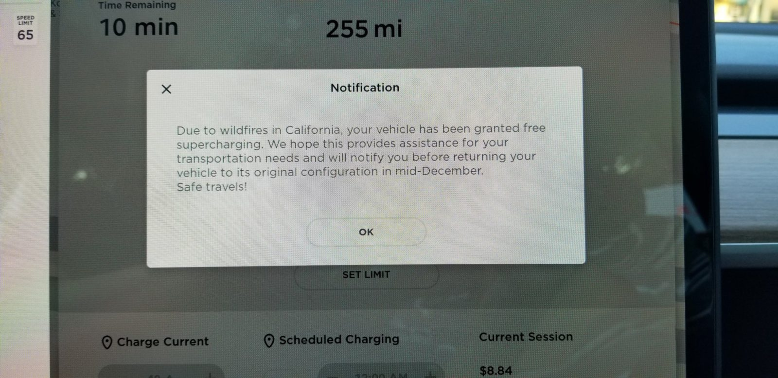 photo of Tesla makes Supercharging free for owners affected by California wildfires image
