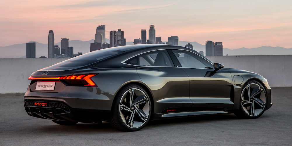 Audi S Gorgeous E Tron Gt Concept Makes Huge Splash At The La Auto