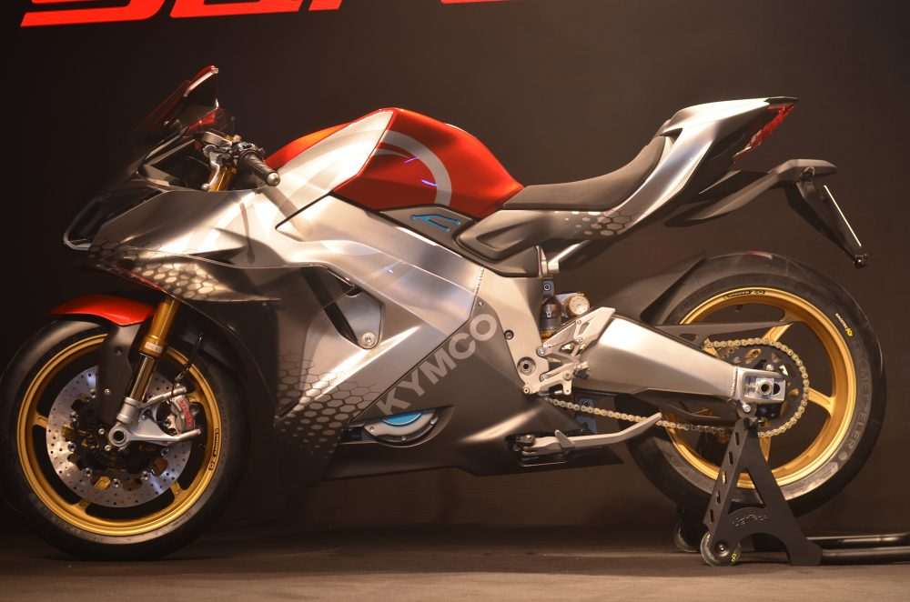 SuperNEX High powered electric motorcycle unveiled by KYMCO