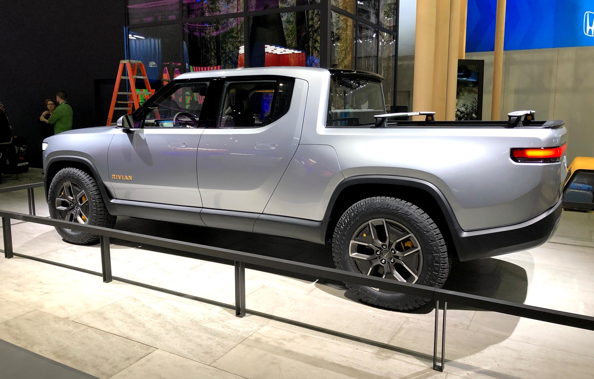 Closer look at Rivian's R1T all-electric pickup truck and