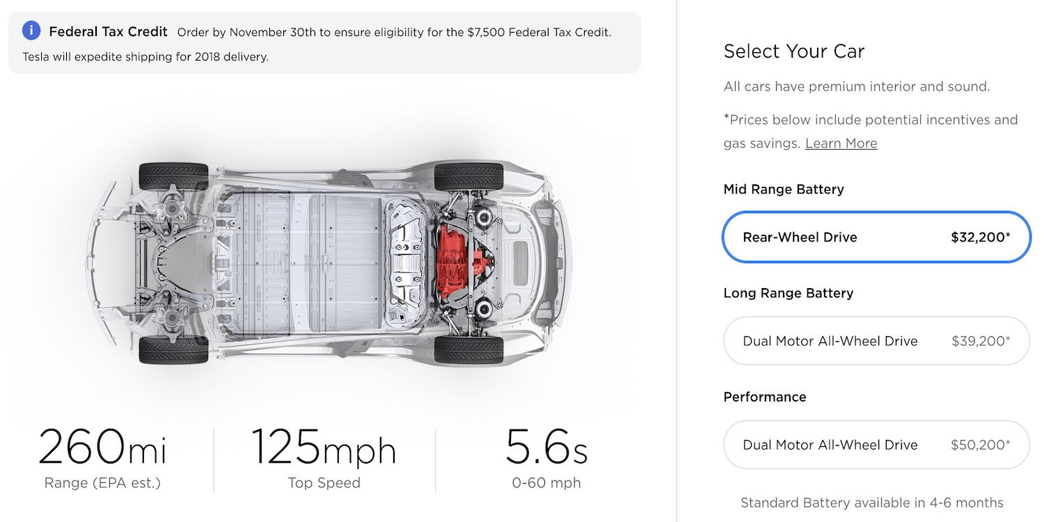 Psa Last Day To Order Model 3 And Be Guaranteed 2018 Delivery For 7500 Us Federal Tax Credit