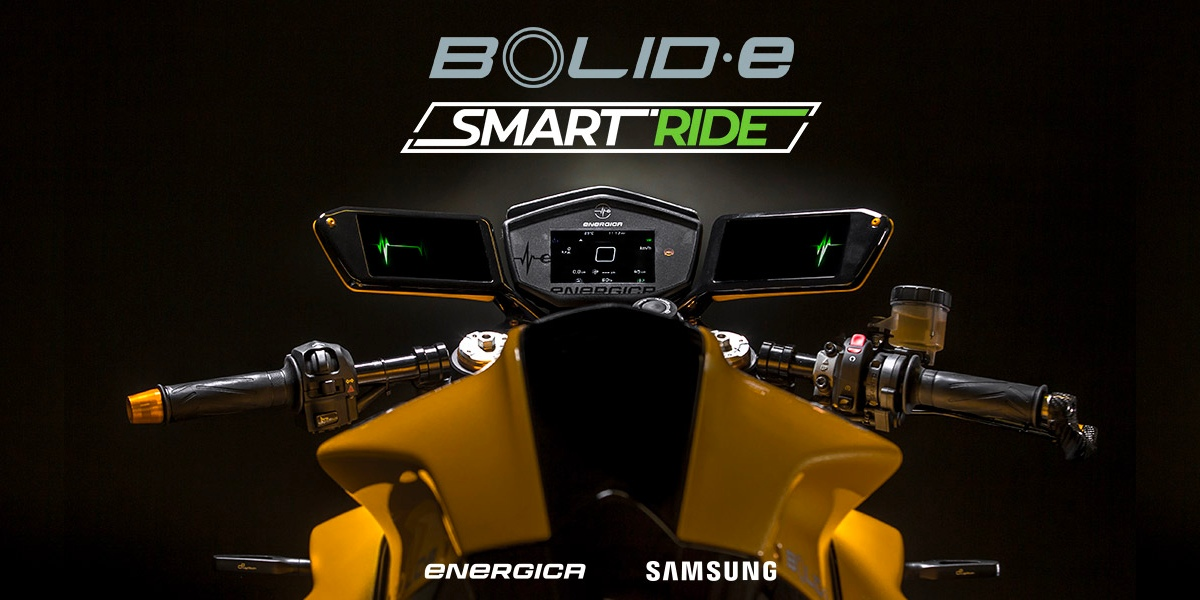 photo image Energica debuts Bolid-E Concept electric motorcycle with Samsung technology