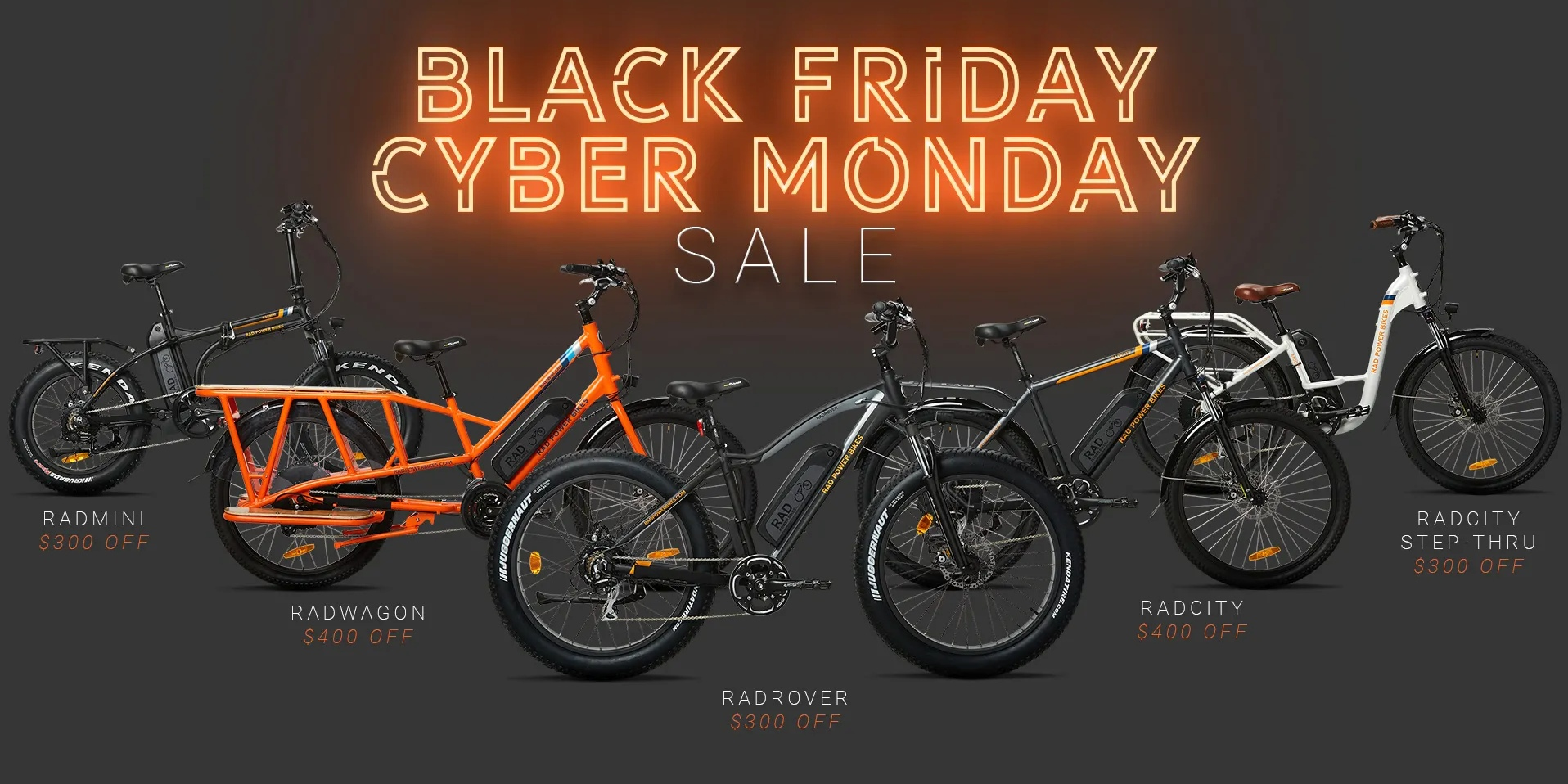 Black friday electric bicycles rad power