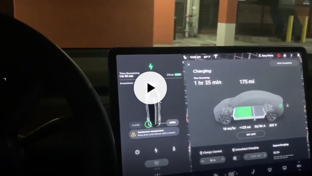 Tesla owner hacks Model 3 and plays Youtube videos - Electrek