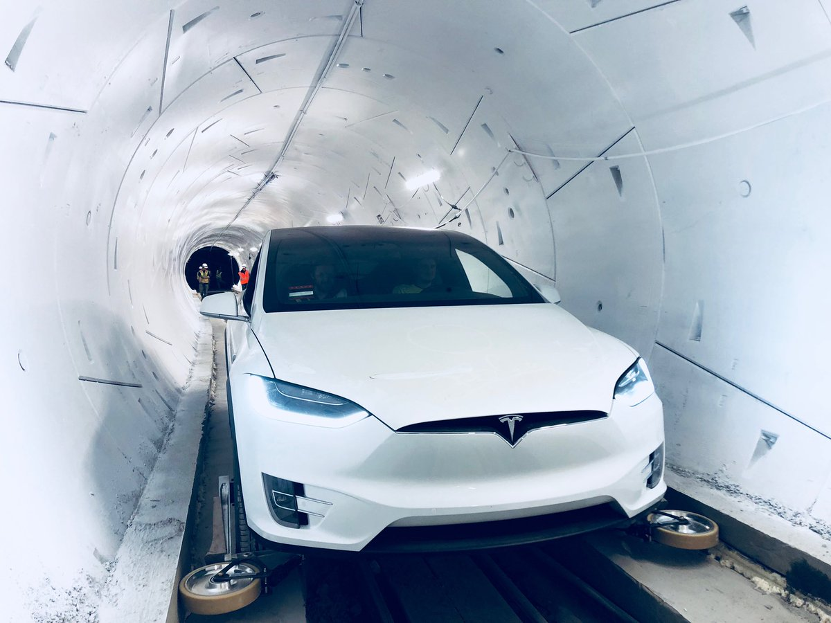 Elon Musk's Boring Company unveils first tunnel with Tesla vehicles