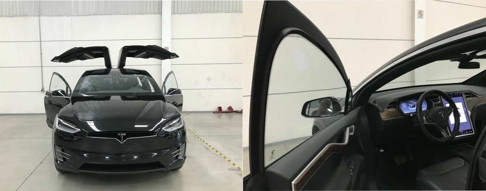 First look at a bulletproof Tesla Model X armored vehicle