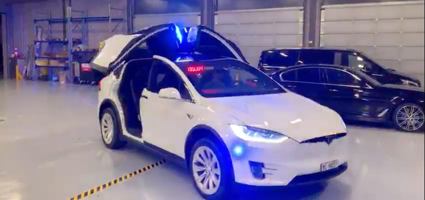 BMW Motorcycles Prices >> Watch a Tesla Model X electric SUV becoming a police vehicle