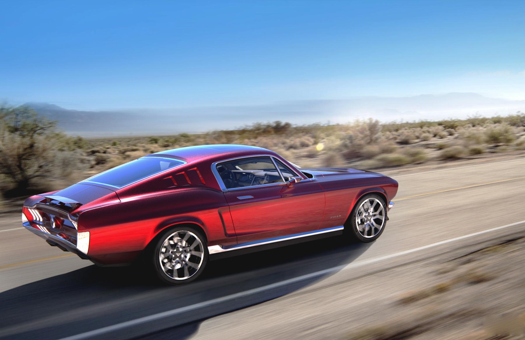 1967 Mustang Meets Tesla Aviar Motors All Electric Muscle Car