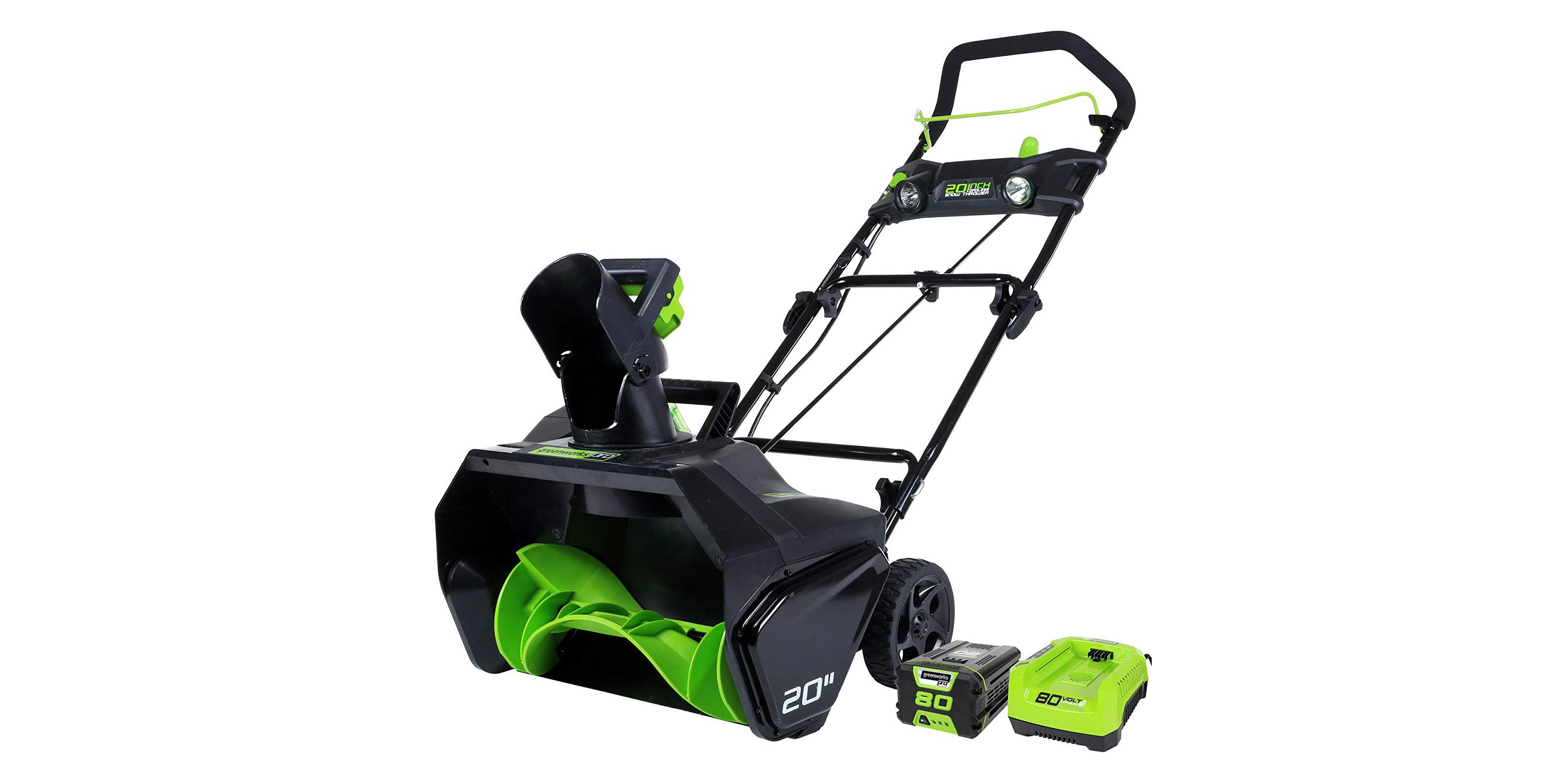 Green Deals: Greenworks PRO 20-inch 80V Snow Thrower $263 (Reg. $325), more