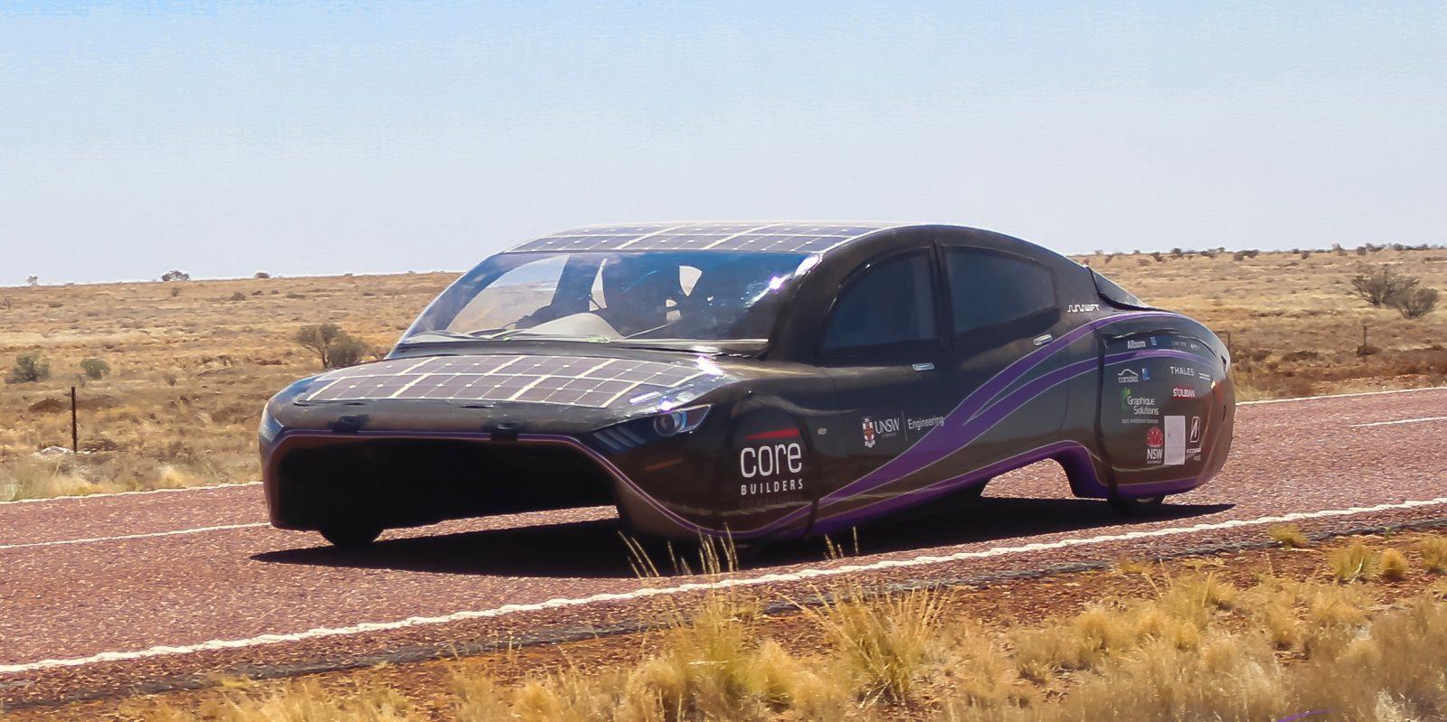 Solar-powered car breaks world record in efficiency during 4,100 km Australian trip
