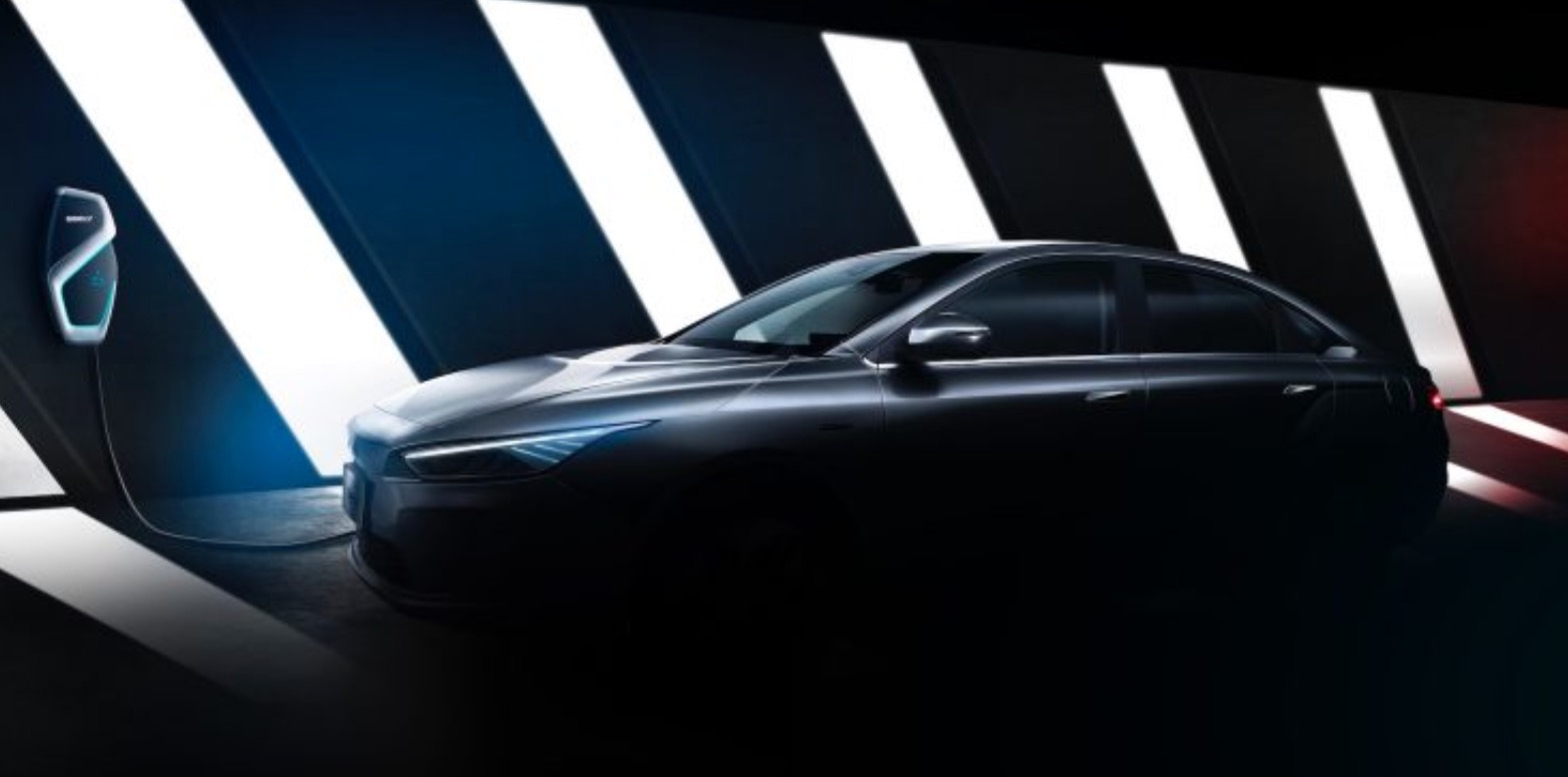 Geely presents the first image of a fully electric sedan for the world market