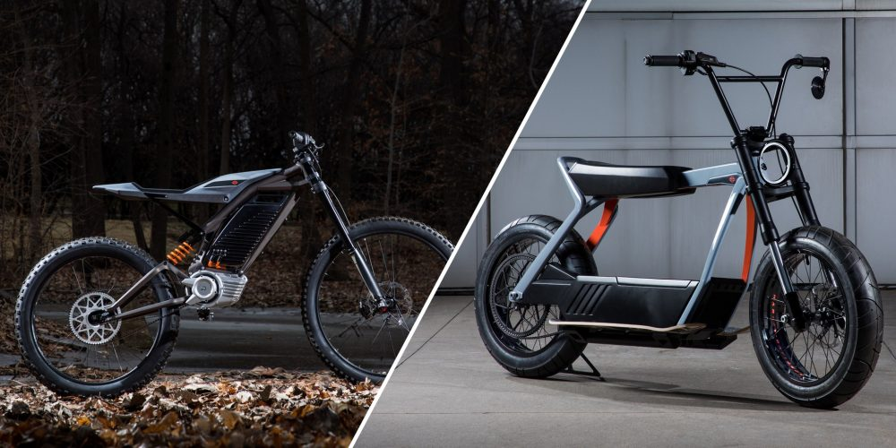 Harley Davidson electric bike and scooter