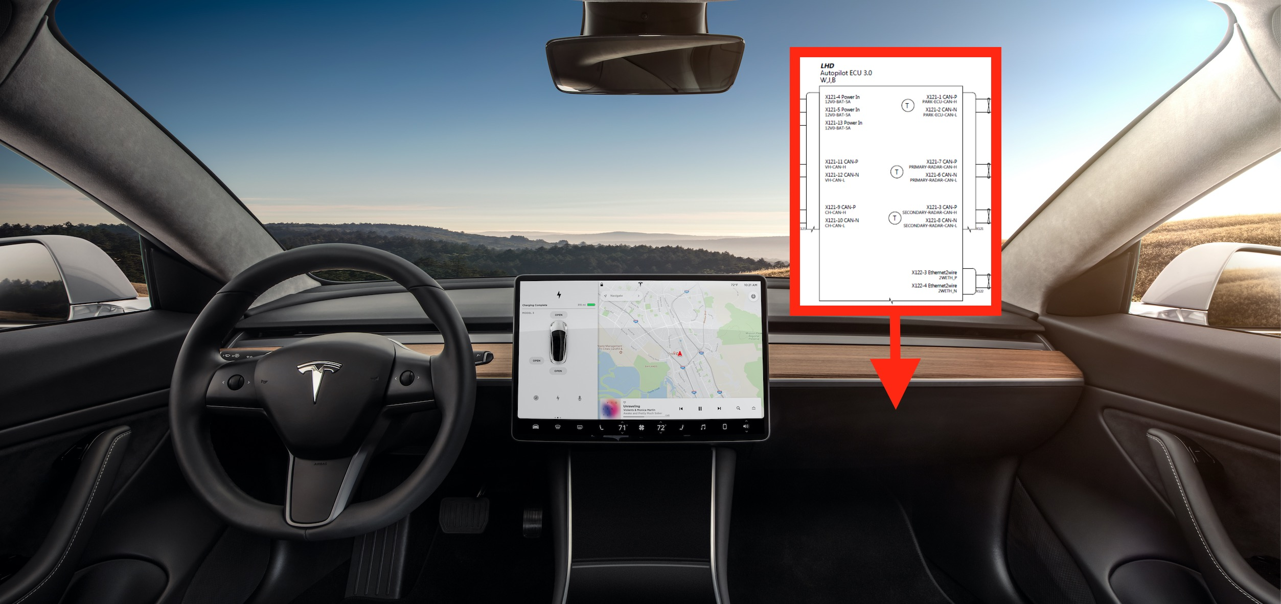Tesla leaks new self-driving Autopilot hardware 3.0 computer diagram ahead of launch