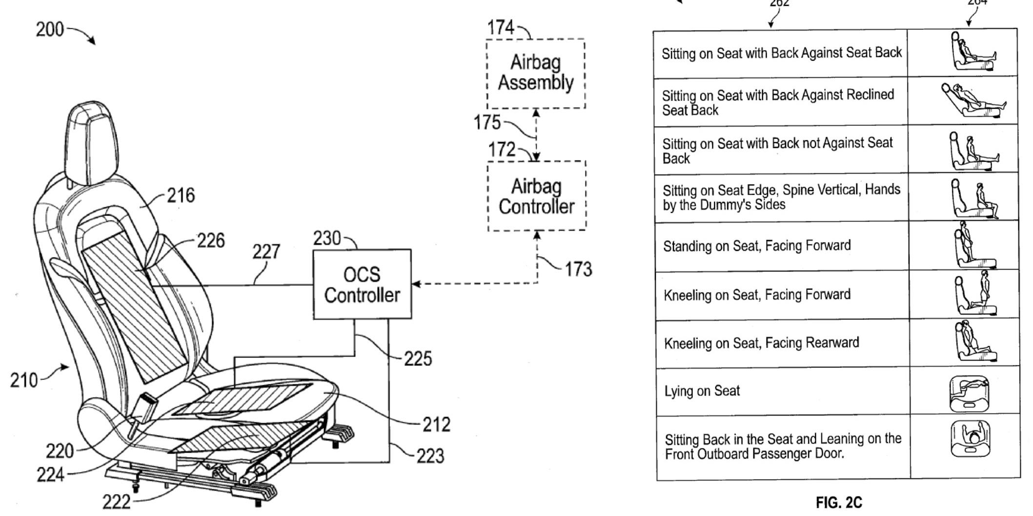 on air bag schematics seat sensor
