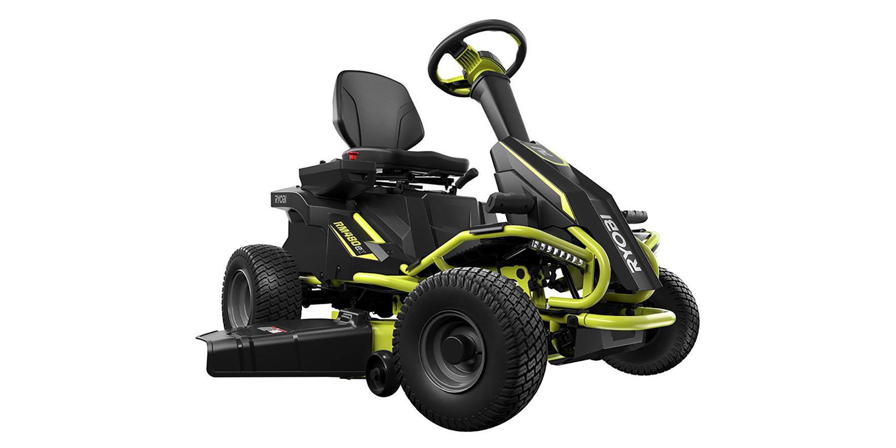 Green Deals Ryobi 38 Inch 100ah Electric Riding Lawn