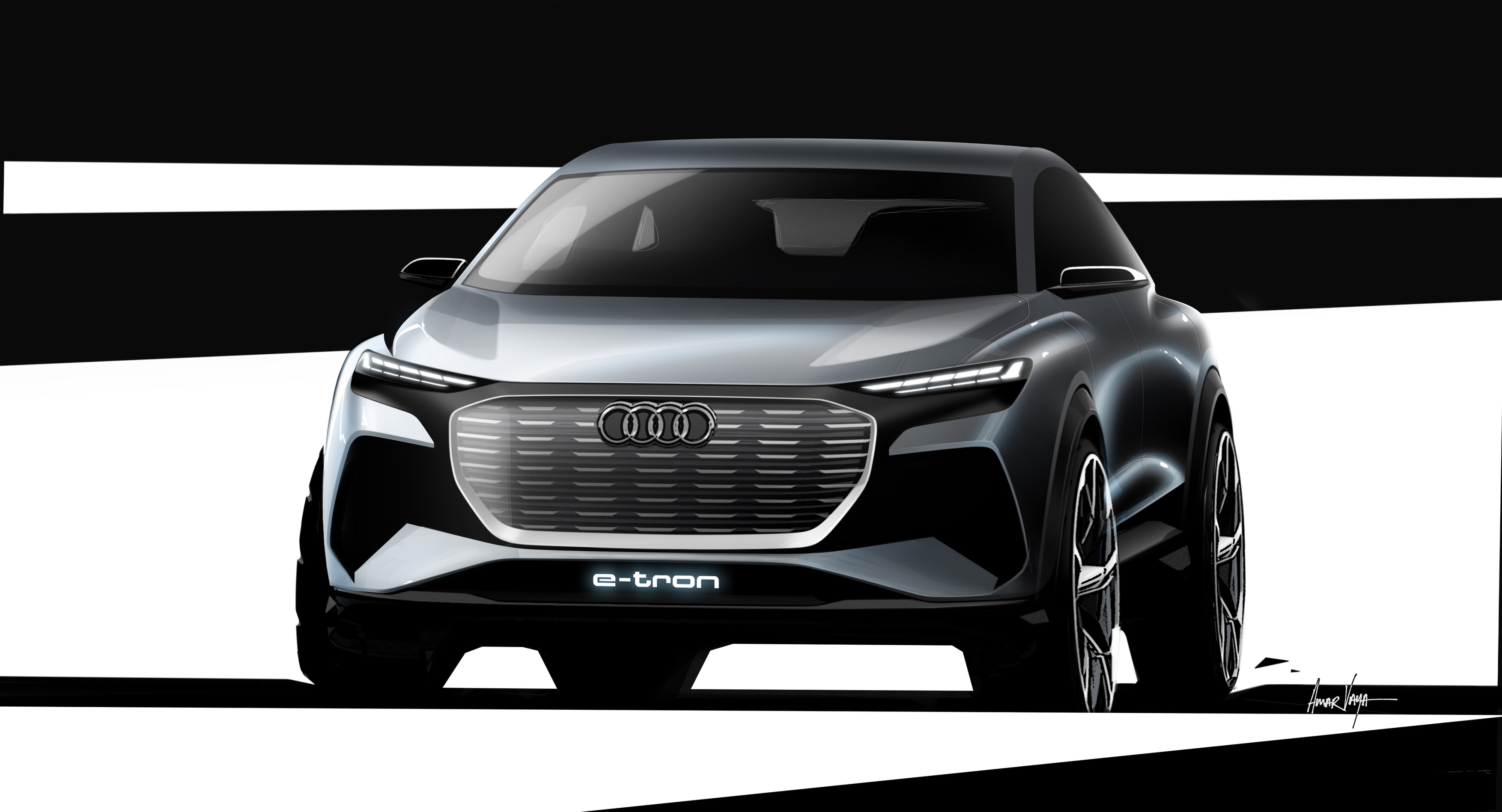 Here Are The New Design Sketches Of Audi Q4 E Tron Released Today