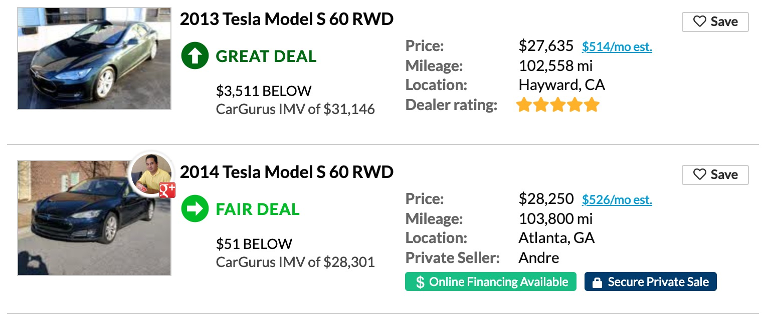 Cheap Tesla Model S